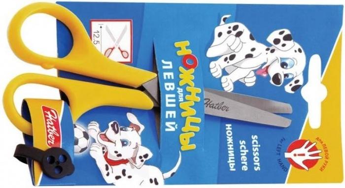 Ножницы детские для левшей Hatber, 12,5 см
