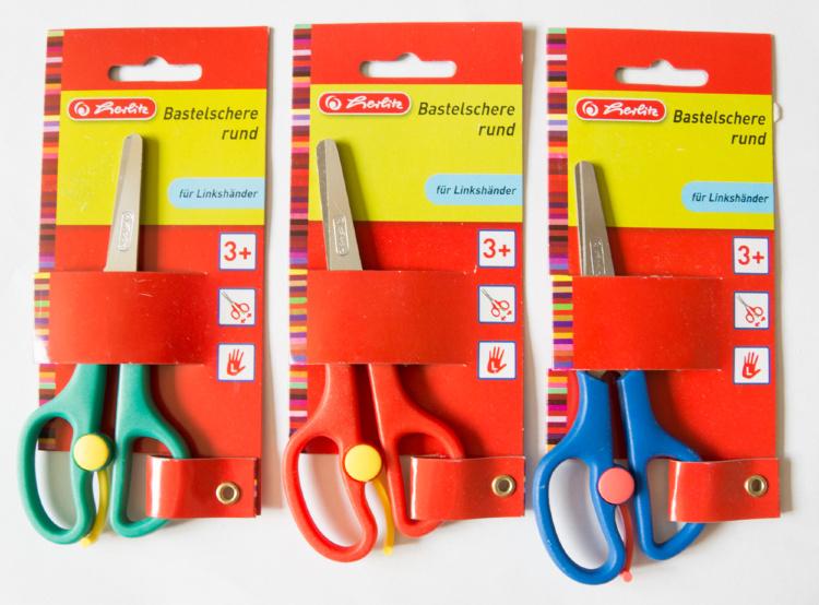 Ножницы Herlitz для левшей школьные 13 см